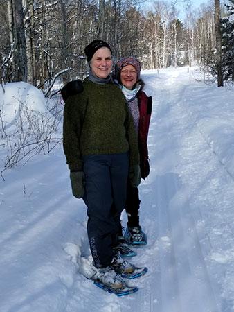 snowshoeing in Michigan