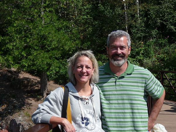 husband on hike